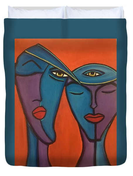 Twin Flame Duvet Cover
