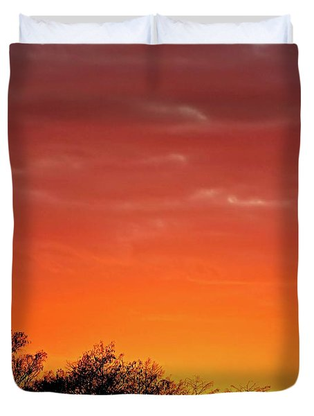 Cypress Swamp Sunset 4 Duvet Cover