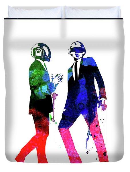 Daft Punk Watercolor Duvet Cover