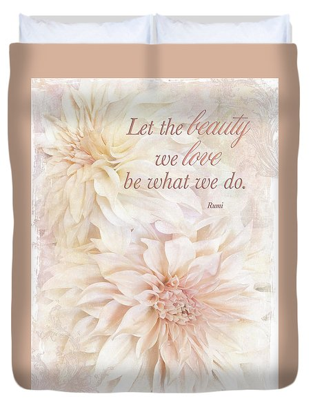 Dahlia Beauties Duvet Cover