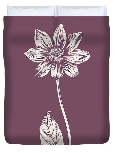 Dahlia Purple Flower Duvet Cover
