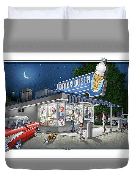 Dairy Queen Duvet Cover