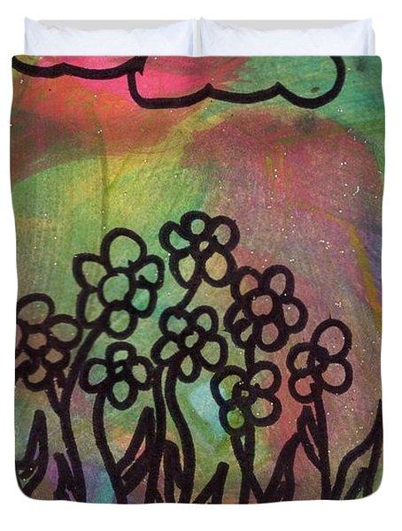 Glittery Skies Duvet Cover
