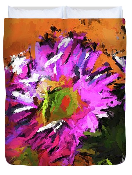 Daisy Rhapsody In Lavender And Pink Duvet Cover