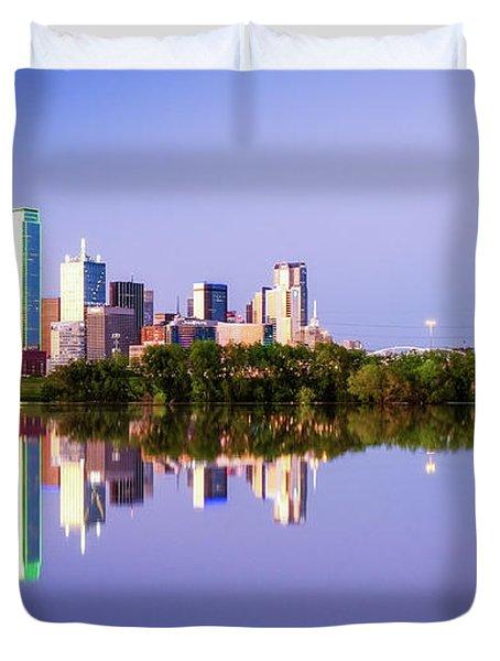 Dallas Texas Houston Street Bridge Duvet Cover