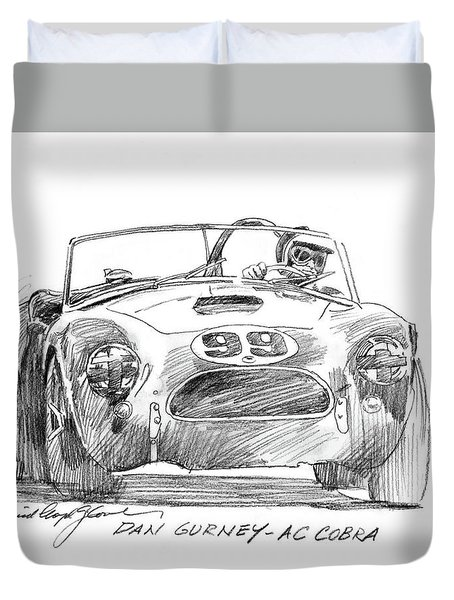 Dan Gurney Ac Cobra No. 99 Duvet Cover