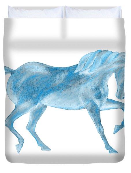 Dancing Blue Unicorn Duvet Cover