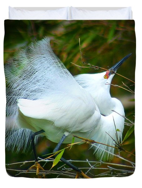 Dancing Egret Duvet Cover