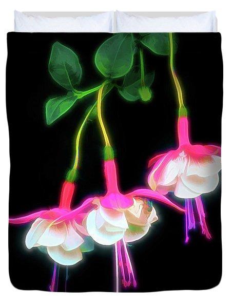 Dancing Fuchsia Abstract Duvet Cover