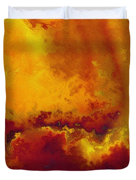 Daniel 6 27. He Delivers And Rescues Duvet Cover