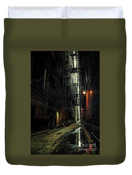 Dark Chicago Alley Duvet Cover