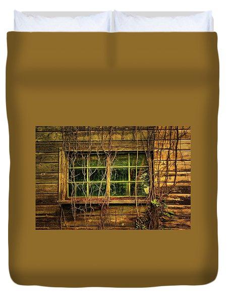 Dark Window Duvet Cover