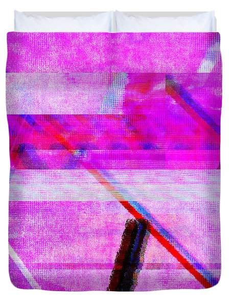 Duvet Cover featuring the digital art Databending #1 by Bee-Bee Deigner