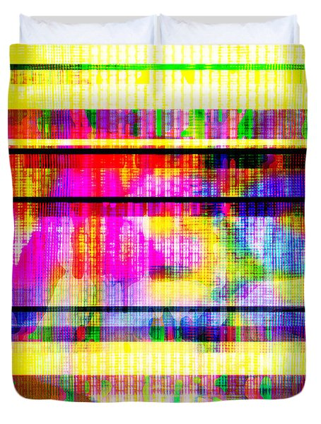 Databending #2 Hidden Messages Duvet Cover