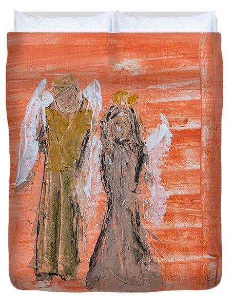 Dating Angels Duvet Cover