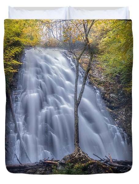 Dawn At Crabtree Falls Duvet Cover