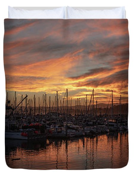 Dawn Monterey Bay California Duvet Cover
