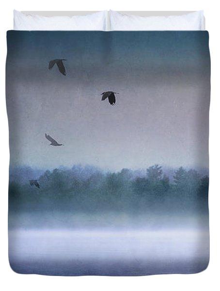 Dawn Of The Fog Duvet Cover
