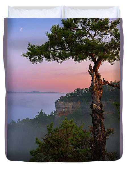Dawn Over The Gorge Duvet Cover