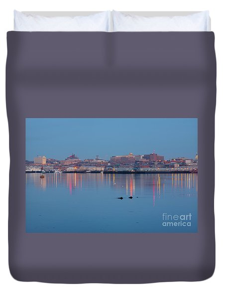 Dawn - Portland, Maine  Duvet Cover