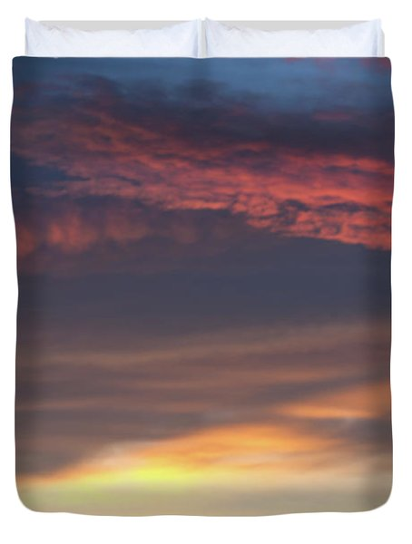 Dawn Sky Colors In Layers Duvet Cover