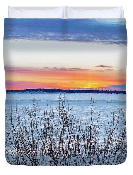 Daybreak Over East Bay Duvet Cover
