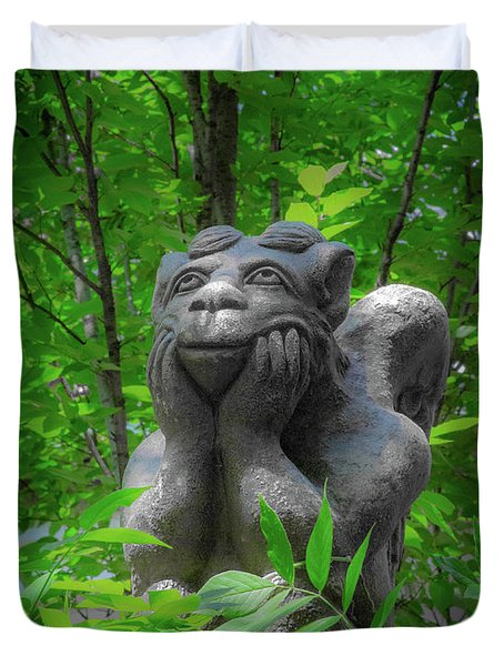 Daydreaming Gargoyle Duvet Cover