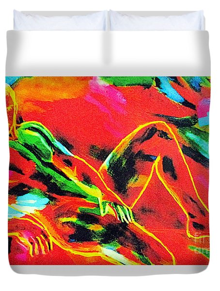 Daze Of A Lover Duvet Cover