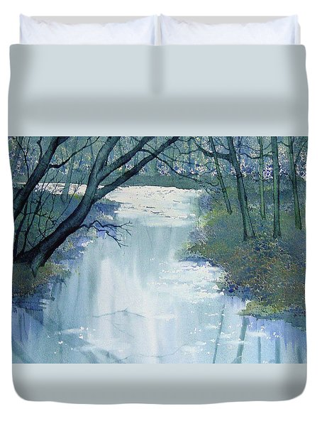 Dazzle On The Derwent Duvet Cover