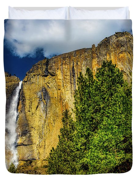 Dazzling Yosemite Falls Duvet Cover