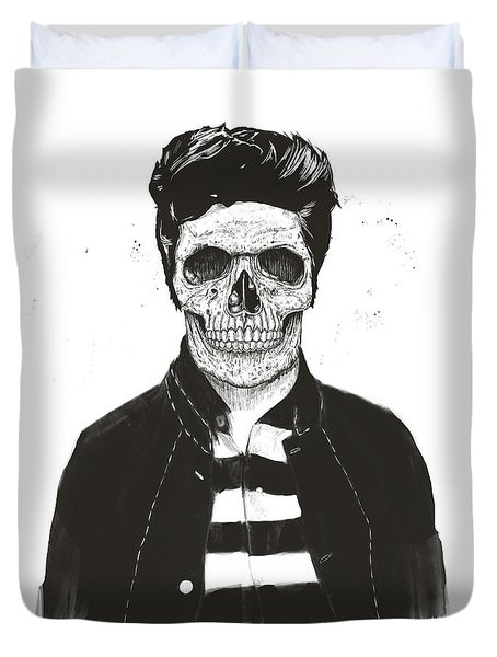 Death Fashion Duvet Cover