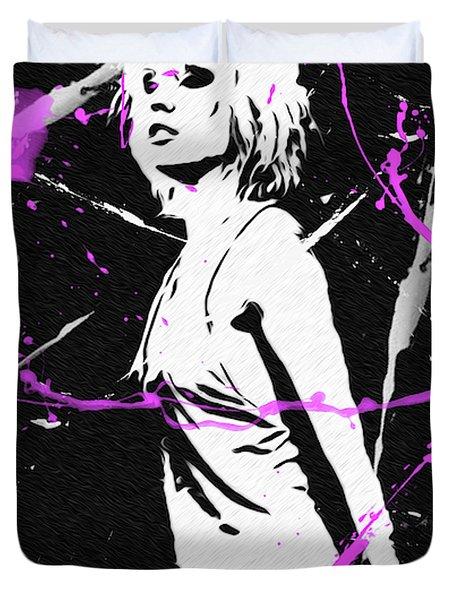 Debbie Harry Punk'd Duvet Cover
