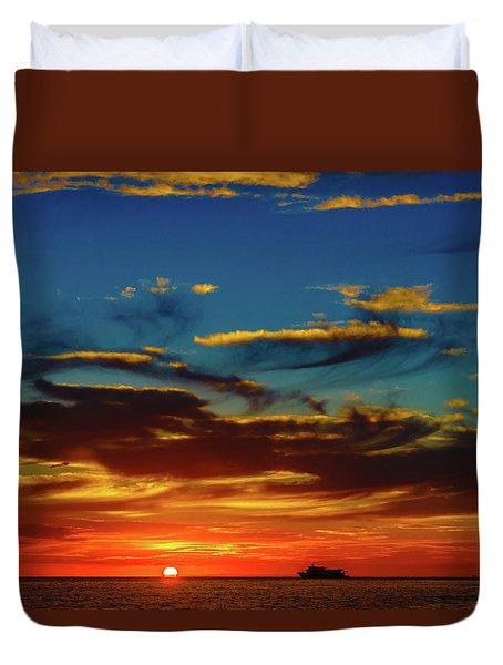 December 17 Sunset Duvet Cover