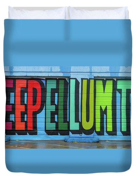Duvet Cover featuring the photograph Deep Ellum Wall Art by Robert Bellomy