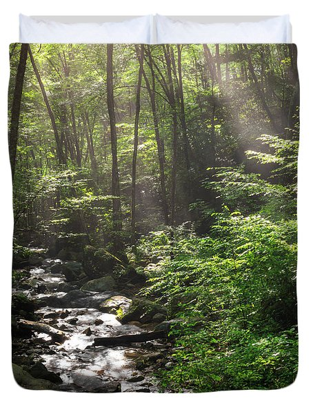 Deep In The Forrest - Sun Rays Duvet Cover