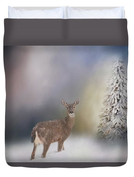 Deer And Tree Duvet Cover