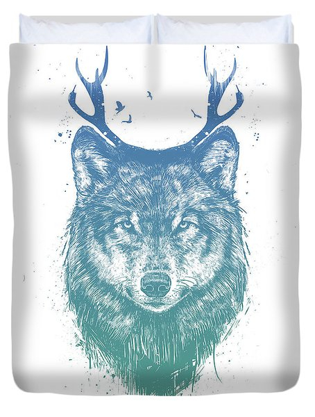 Deer Wolf Duvet Cover