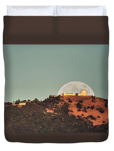 Duvet Cover featuring the photograph Deflector Shield Over Lick Observatory by Quality HDR Photography
