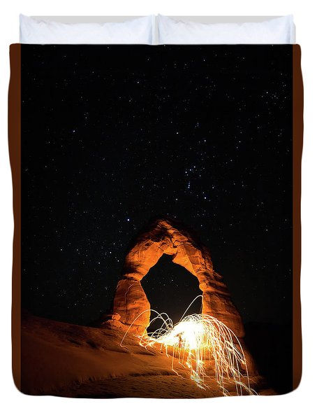 Delicate Arch Steel Wool Duvet Cover