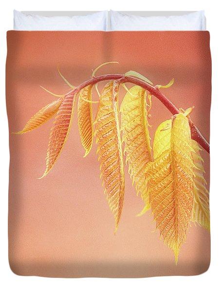 Delightful Baby Chestnut Leaves Duvet Cover