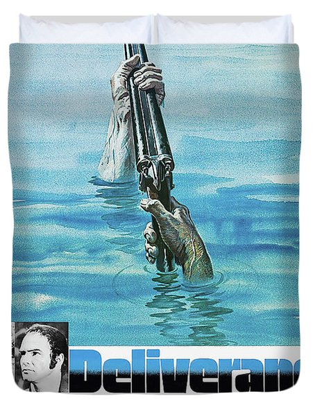 Deliverance  1972 - What Did Happen On The Cahulawassee River? Duvet Cover