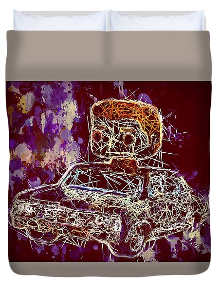 Dean Winchester Car Supernatural Pop  Duvet Cover