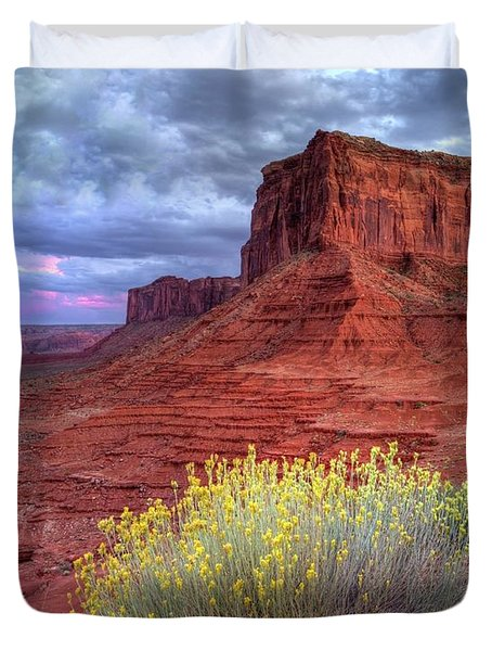 Desert Bouquets On A Stormy Eve Duvet Cover