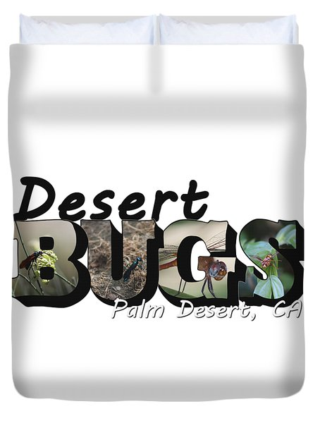 Desert Bugs Big Letter Duvet Cover