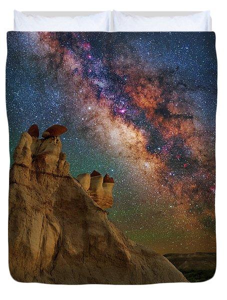 Desert Castle Duvet Cover
