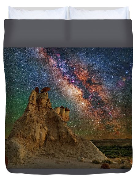 Desert Castle Duvet Cover