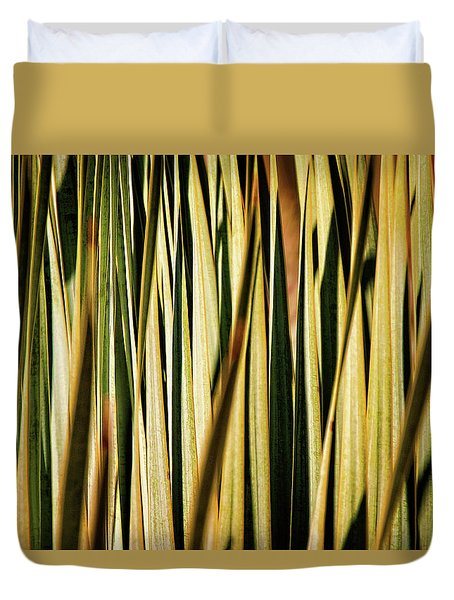 Duvet Cover featuring the photograph Desert Grasses I by Leda Robertson