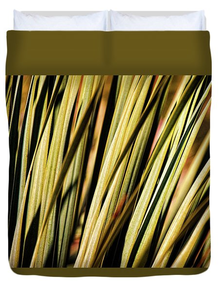Duvet Cover featuring the photograph Desert Grasses II by Leda Robertson