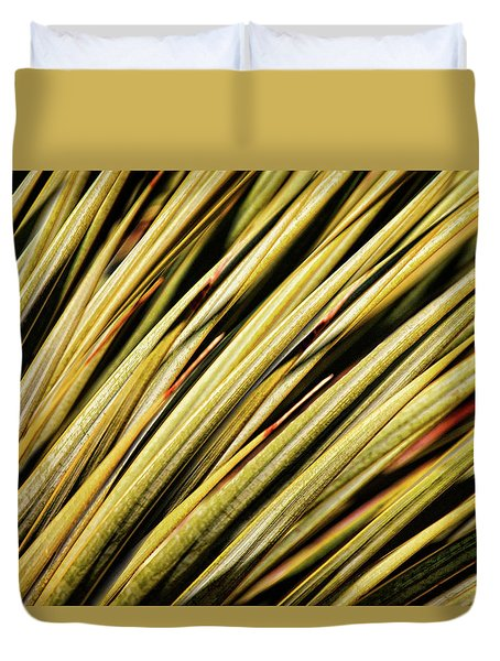 Duvet Cover featuring the photograph Desert Grasses IIi by Leda Robertson