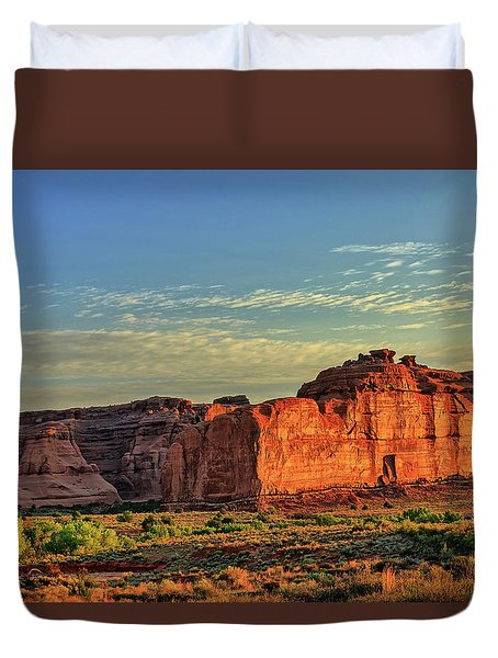 Desert Sunrise In Color Duvet Cover